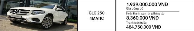 Giá xe Mercedes GLC 250 4MATIC 2019 tại Mercedes Trường Chinh