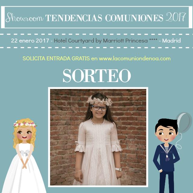 Sorteo Antonio GCR Fotografia - Showroom Tendencias Comuniones 2017 - La Comunion de Noa