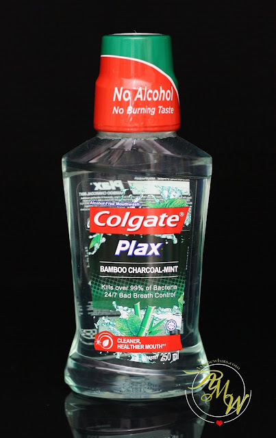 a photo of Colgate Plax Bamboo Charcoal Mint Mouthwash