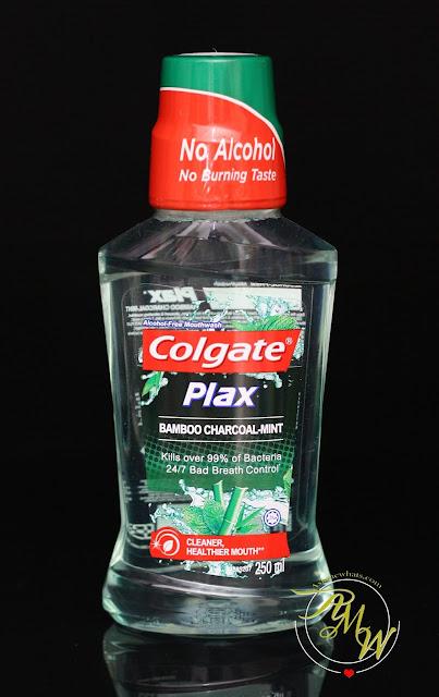a photo of Colgate Plax Bamboo Charcoal Mint Mouthwash