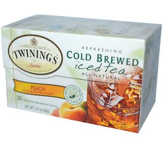 الشاي المثلج ايس تي ٢٠ كيس من اي هيرب  Twinings, Cold Brewed Iced Tea, Peach, 20 Tea Bags, 1.41 oz (40 g)
