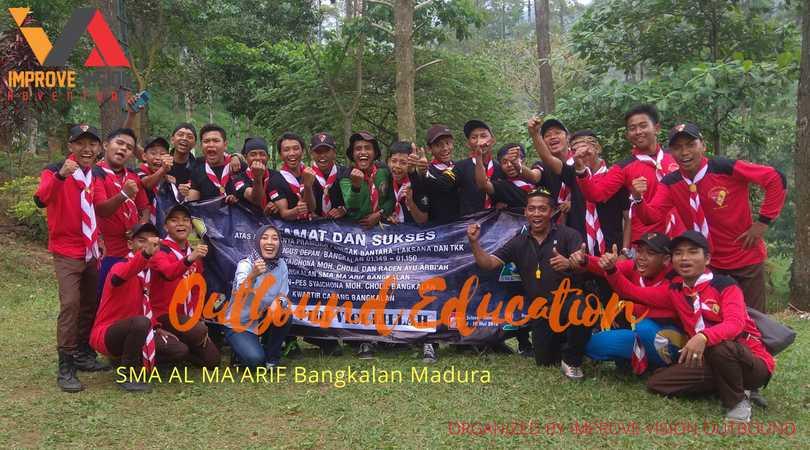 outbound edukasi sma al ma'arif bangkalan madura wisata outbound pacet improve vision
