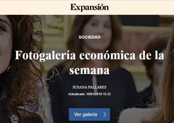 FOTOGALERIA ECONOMICA DE LA SEMANA 18 ENERO 2019