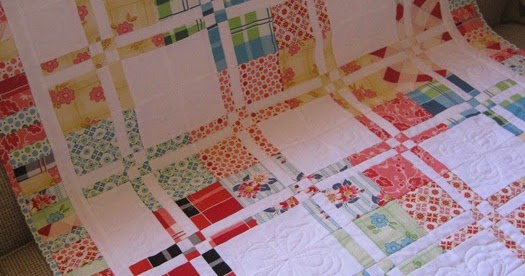 Free Quilting Disappearing Four Patch Quilt