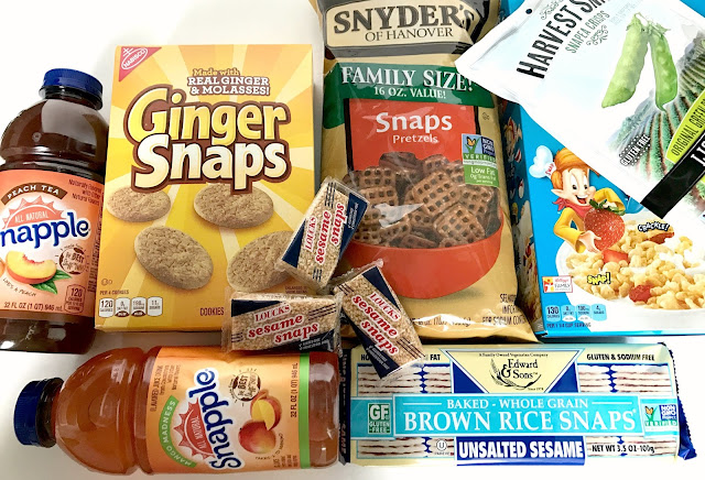 Care package with SNAP food items.