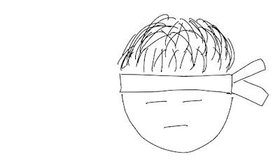 アイコン 「勉強」 (作: 塚原 美樹) ~ 髪の毛を描く