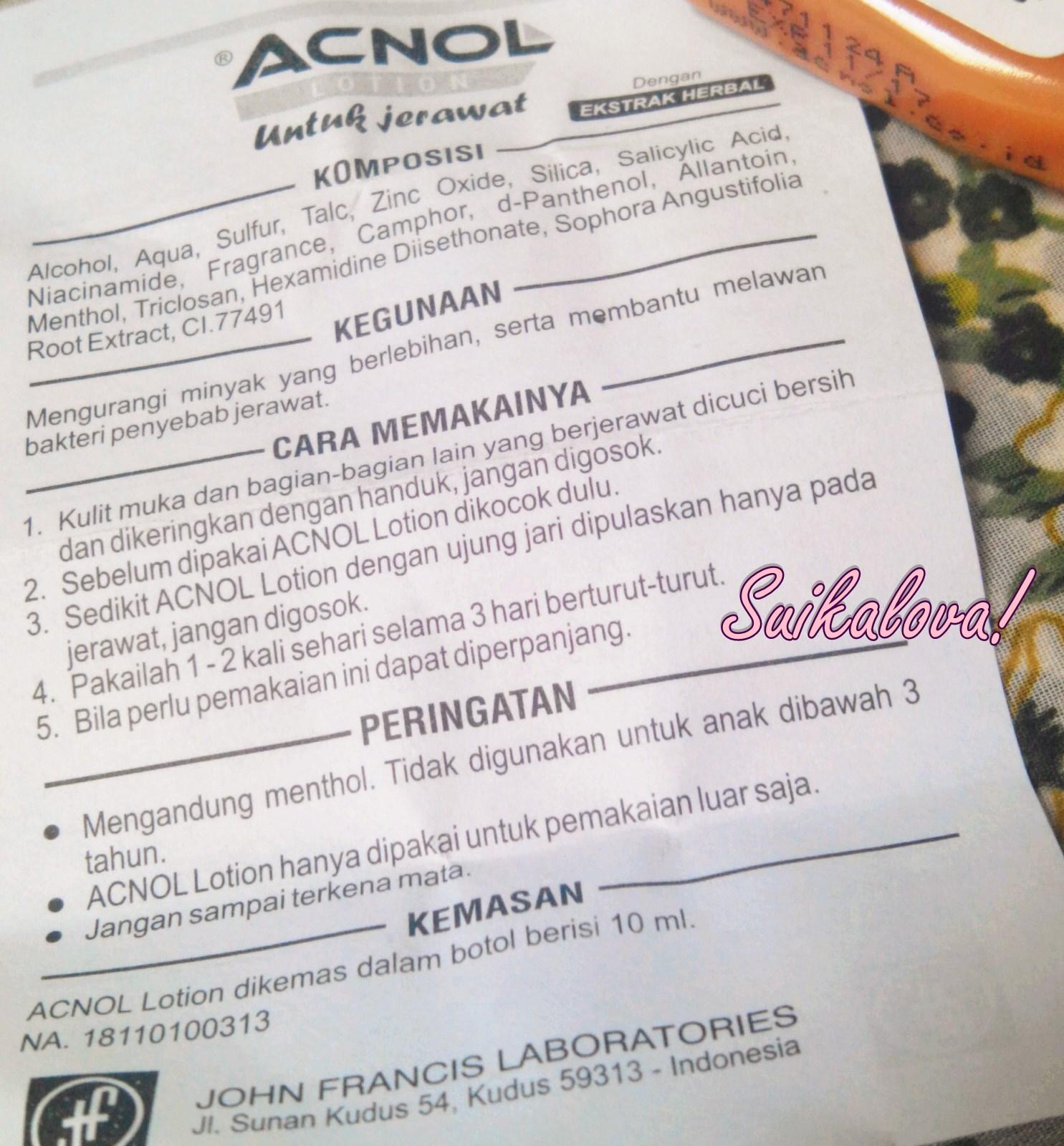 Review Acnol Lotion, Obat Jerawat Murah