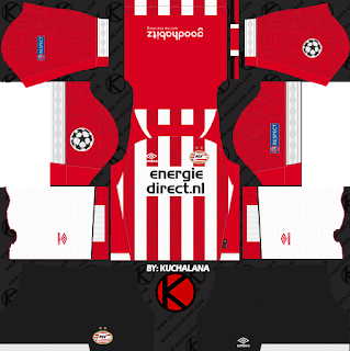 PSV Eindhoven 2018/19 UCL Kit - Dream League Soccer Kits