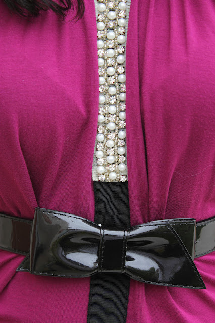 Pearls, Rhinestones, Patent Black Belt