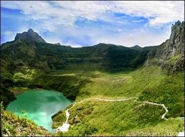objek wisata Gunung Kelud di Kediri