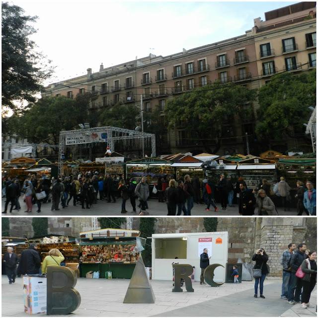 Fira de Santa Llucia 2016 - Avenida de la Catedral e Plaça Nova
