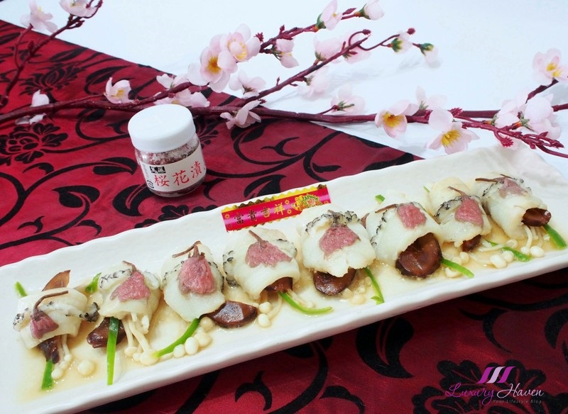 chinese new year food sakura cod fish rolls