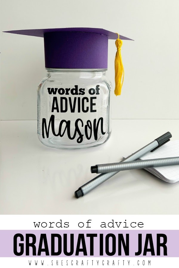 Make a Quick and Easy Advice jar for guests to share advice with a Graduate
