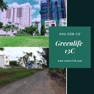 bán đất mặt tiền vành đai trong kdc greenlife 13C