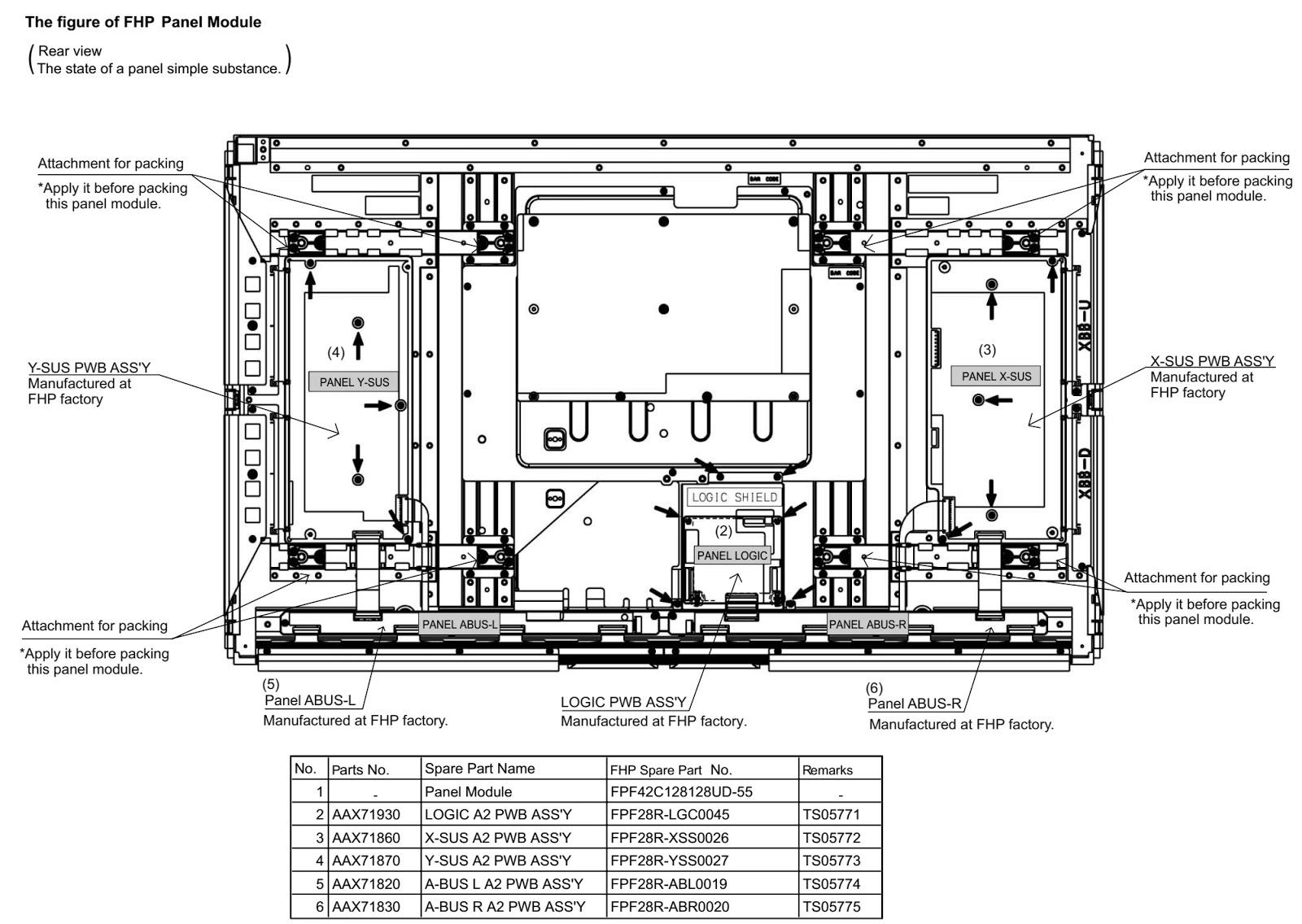 Yamaha PDM4220 Plasma Display