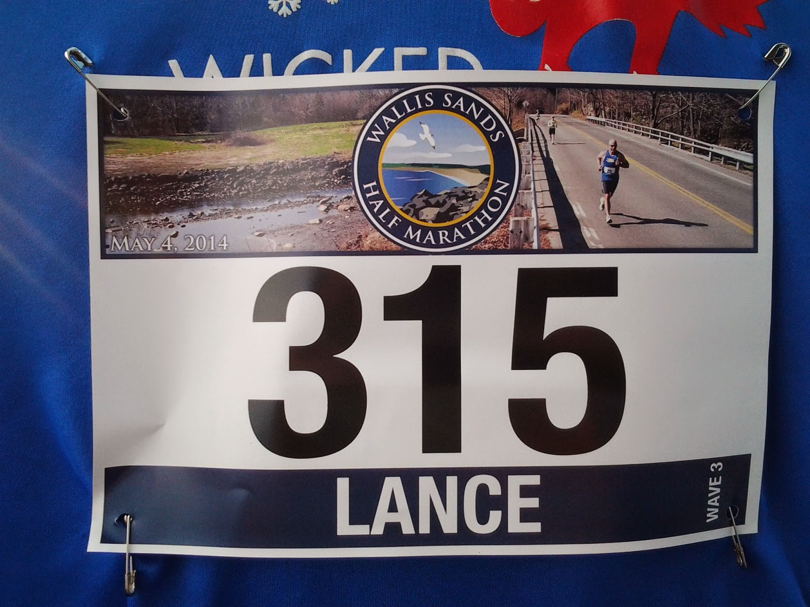 Image: Lance Eaton - Wallis Sands Half Marathon's number: 315