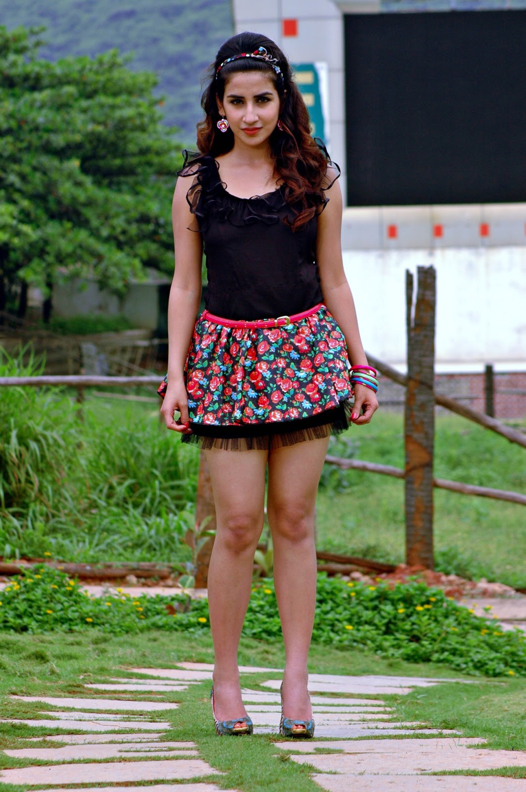 Parul Gulati in micro mini skirt