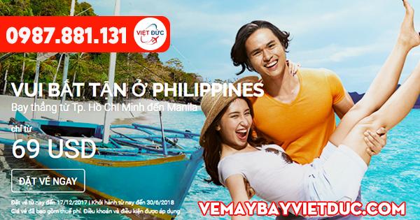 Vé khuyến mãi Air Asia đi Philippines ngày 11-12-2017