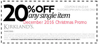 free Kirklands coupons for december 2016
