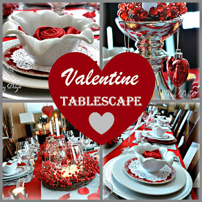 Dining Delight: Red Berry Valentine Tablescape