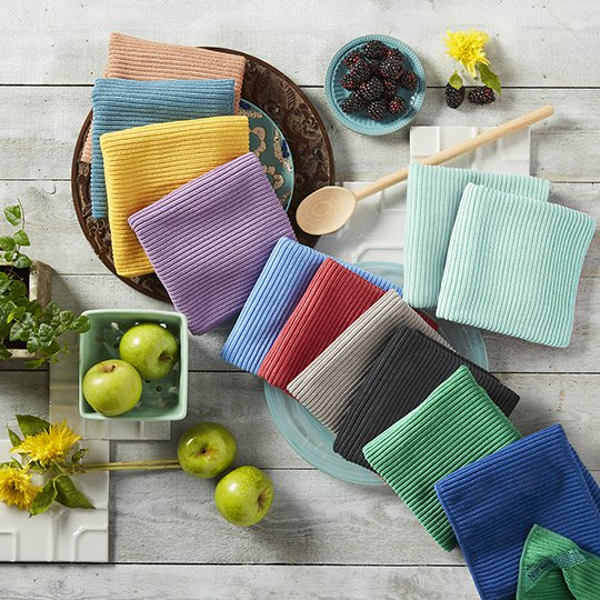 Norwex Kitchen Cloth And Towel Colors Counter Clockwise From Top Left Latte Teal Sunflower Eggplant Blue Pomegranate Graphite Charcoal Green