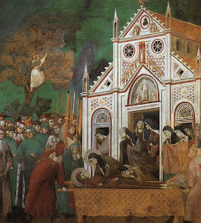 Detail from the Giotto cycle The Life of St Francis