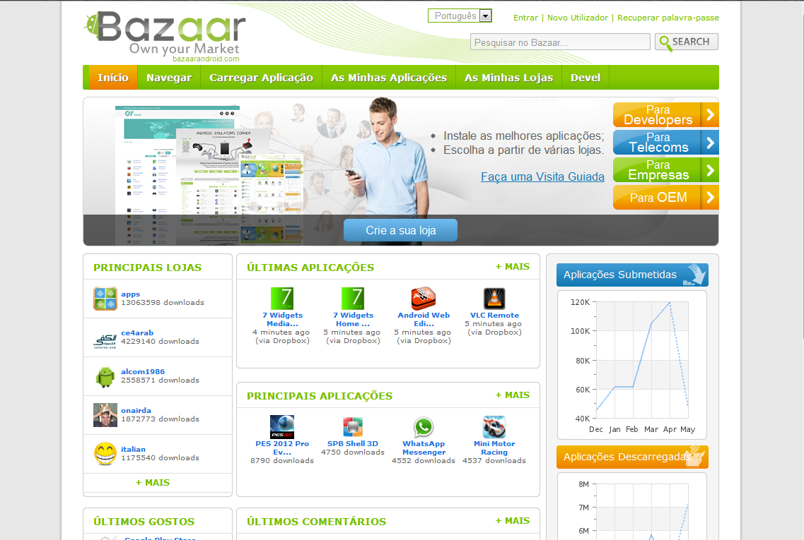 Bazr android market