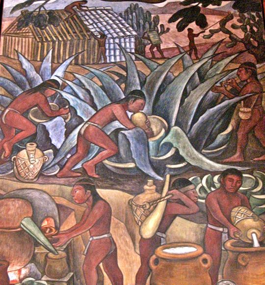 Jim carole 39 s mexico adventure mexico city part 4 for Aztec mural painting