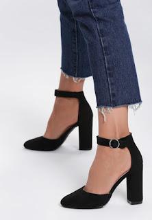 Pantofi cu toc Abstain Negri