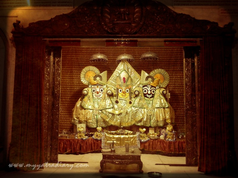 A replica of Jagannath temple deities in Ahemdabad