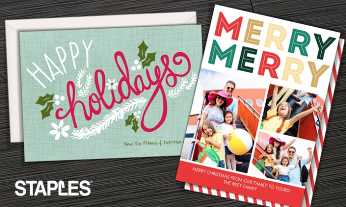 Save up to 70% off your holiday cards! No shipping + Local pickup!