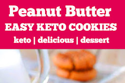 Easy 3 Ingredient Keto Peanut Butter Cookies #3ingredient #keto #peanutbutter #cookies #ketorecipes #ketocookies #desserts