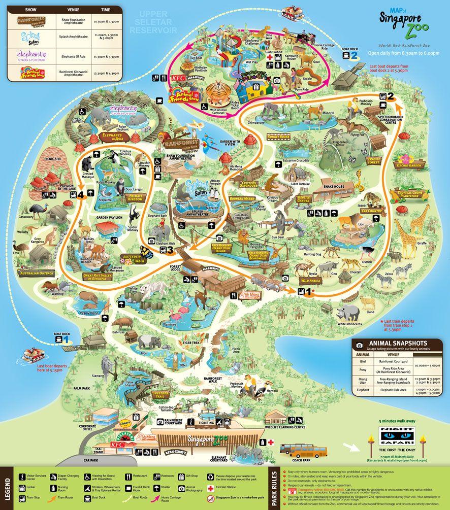 30 Tips Dan Panduan Lengkap Liburan Ke Singapore Zoo River Safari Anak Denah Peta Di Singapura
