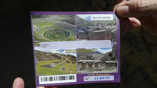 Ollantaytambo, boleto turístico