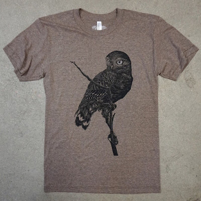 MondoCon Exclusive Burrowing Owl T-Shirt by John Vogl