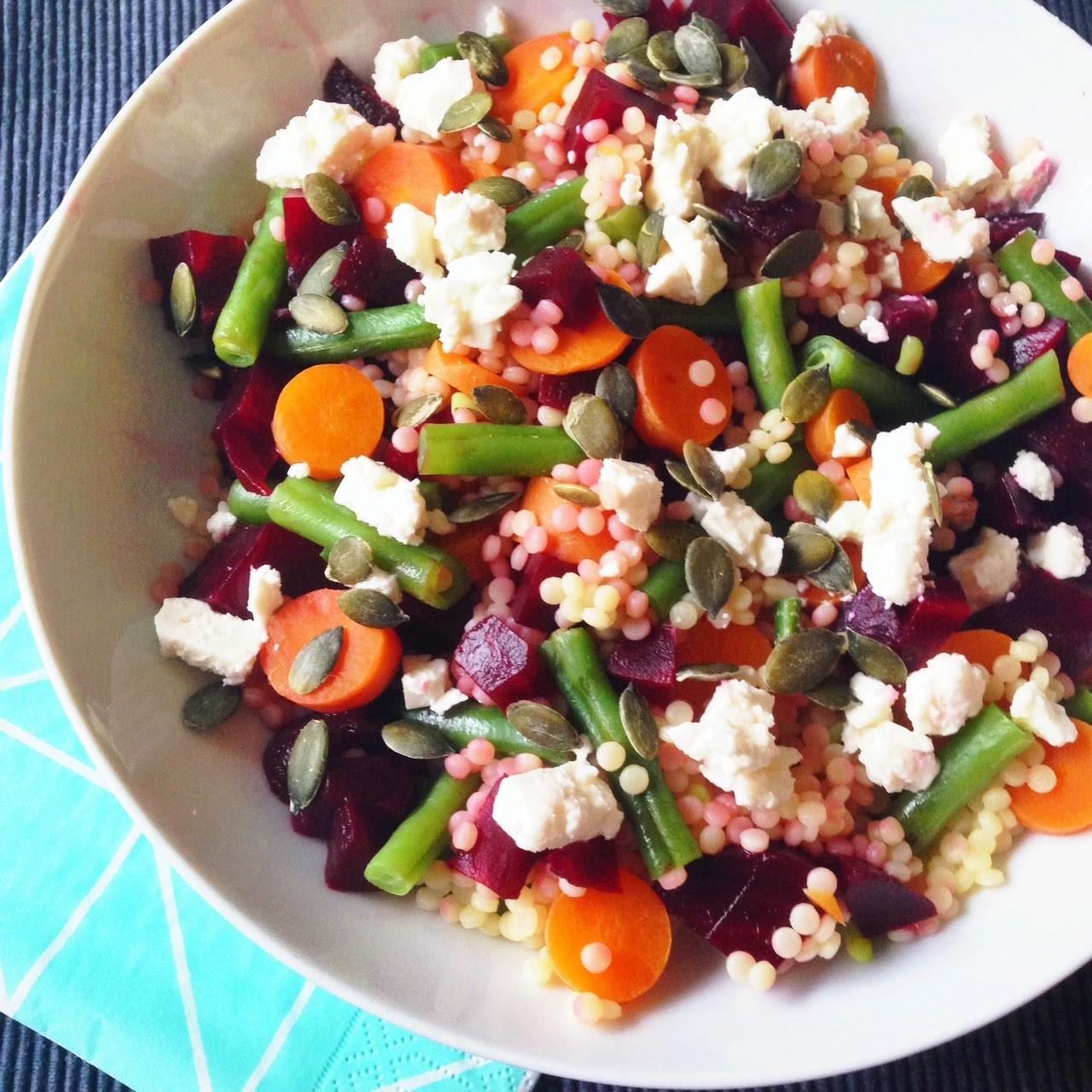 Healthy Living In Heels Pearl Couscous Beetroot Salad V