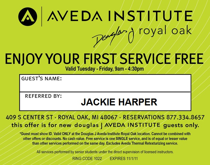 aveda coupons for haircut douglas j aveda hairstylegalleries 3820