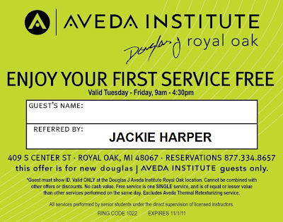 aveda haircut coupons free is my free spa or hair service for 1st 6211