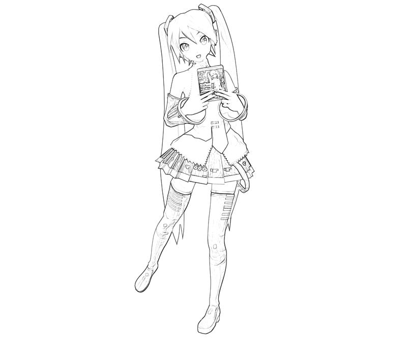 hatsune miku coloring pages - photo #21