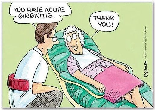 You have acute gingivitis dentist joke cartoon picture