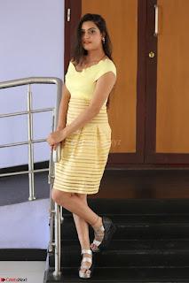 Shipra gaur in V Neck short Yellow Dress ~  026.JPG