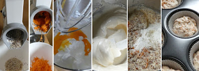 Zubereitung Rübli-Muffins (Lockere Haselnuss-Karotten-Muffins)