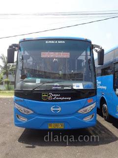 bus Trans Lampung (tampak muka)