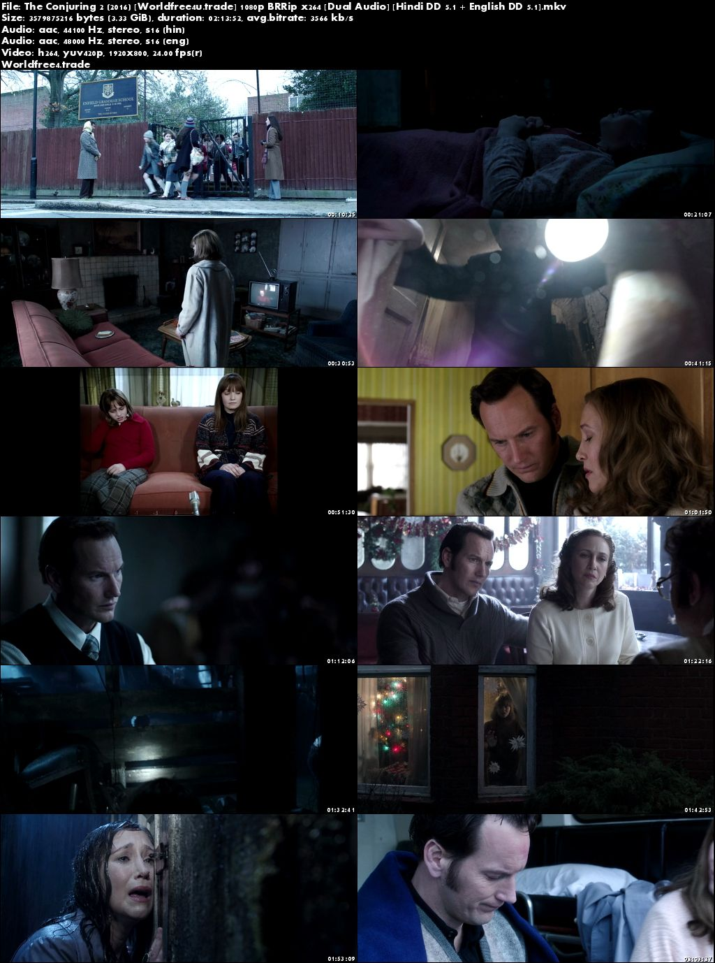Screen Shoot of The Conjuring 2 2016 BRRip 1080p Dual Audio In Hindi English
