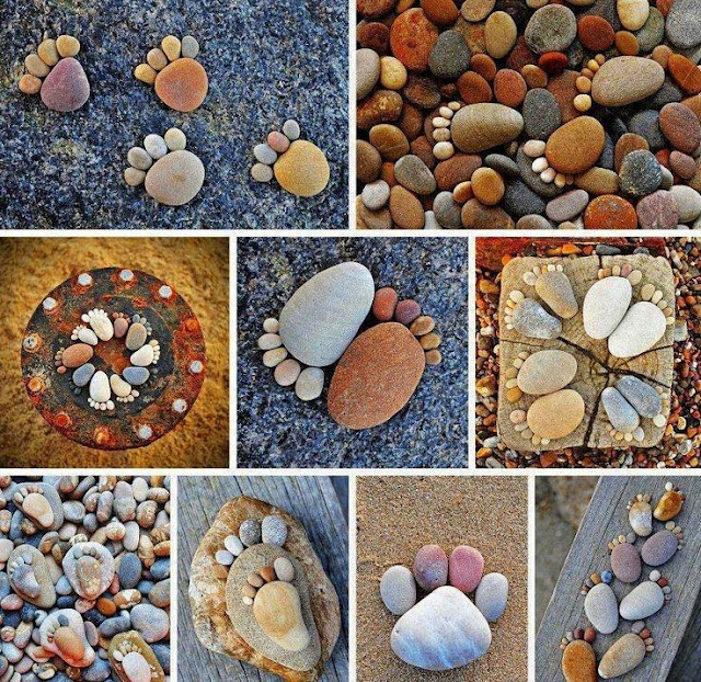 DIY Pebble Feet Craft - Awesome Stone Footprints