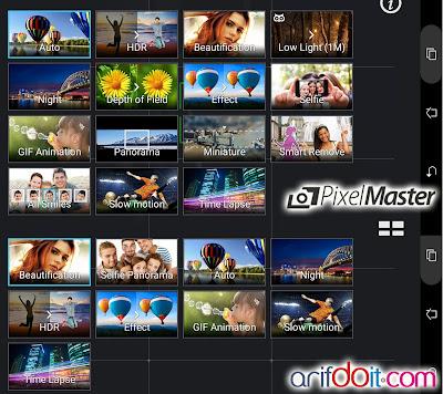 Mode Kamera Asus PixelMaster Asus Zenpad Z370CG