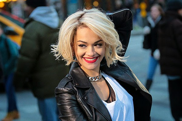 Rita Ora on the 50 shades of gray