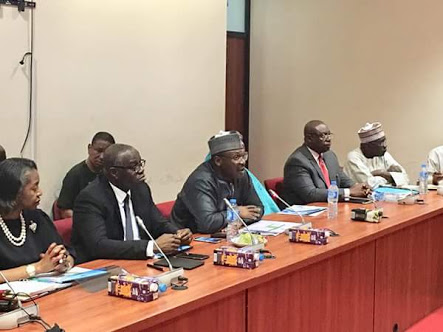 INEC Chairman Presents 2019 INEC Budget To Senate (Photos)