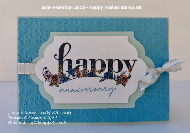 Oakfield Crafts, Anniversary, Sale-A-Bration, Happy Wishes