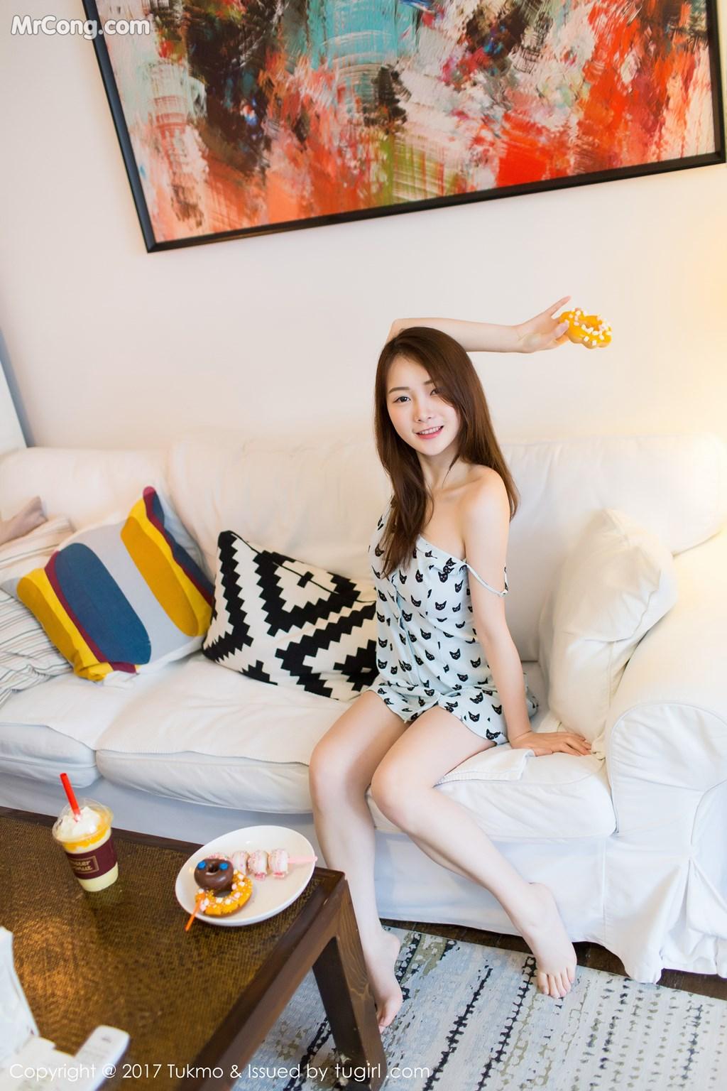 Image Tukmo-Vol.101-Mian-Mian-MrCong.com-001 in post Tukmo Vol.101: Người mẫu Mian Mian (绵绵) (45 ảnh)